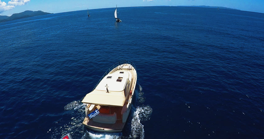 Flotilla motorboat Greece